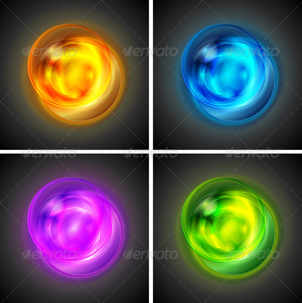 Bright vector shapes - Abstract Conceptual
