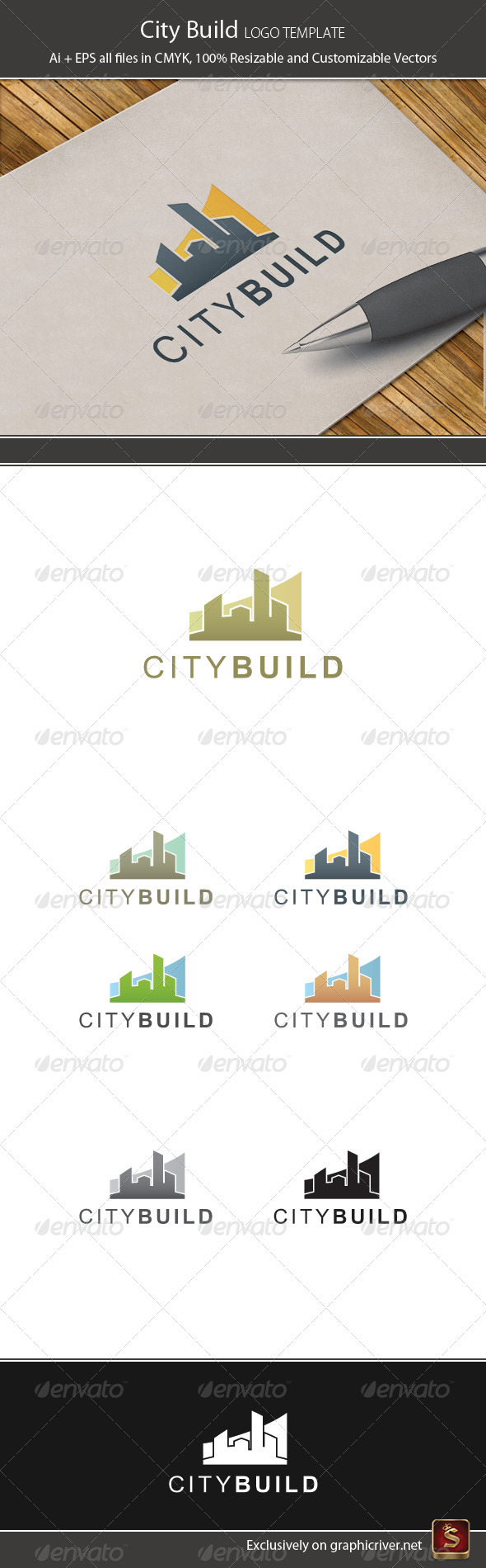 City Build Logo Temlate - Buildings Logo Templates