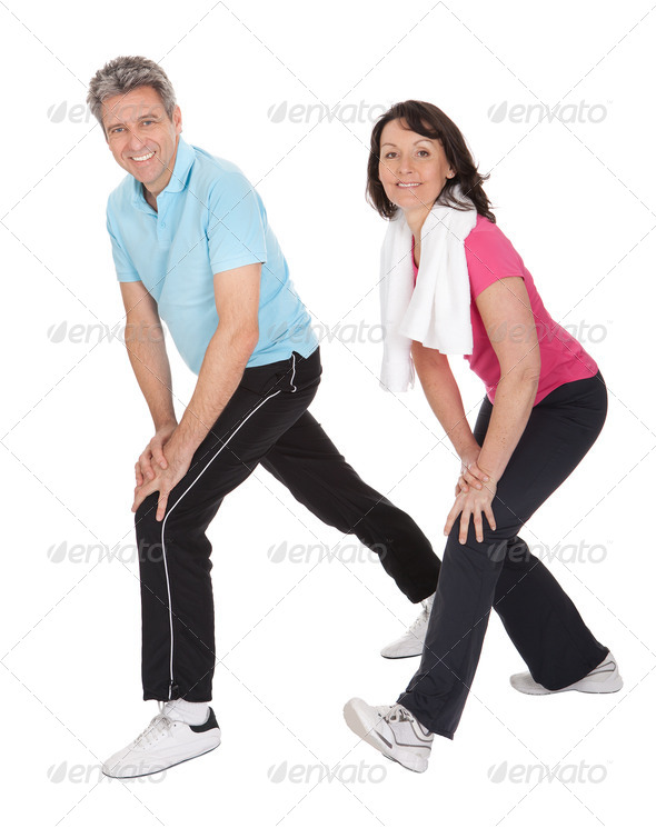 Active mature couple doing fitness - Stock Photo - Images