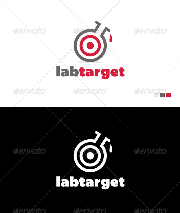 Lab Target - Logo Template - Objects Logo Templates