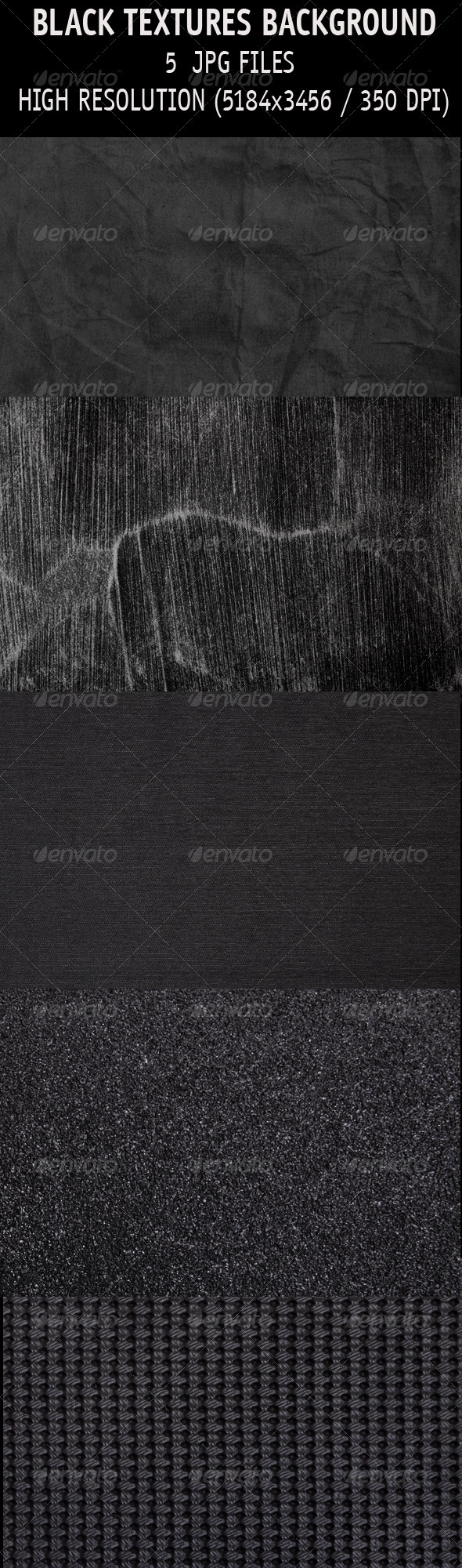 Black textures background - Industrial / Grunge Textures