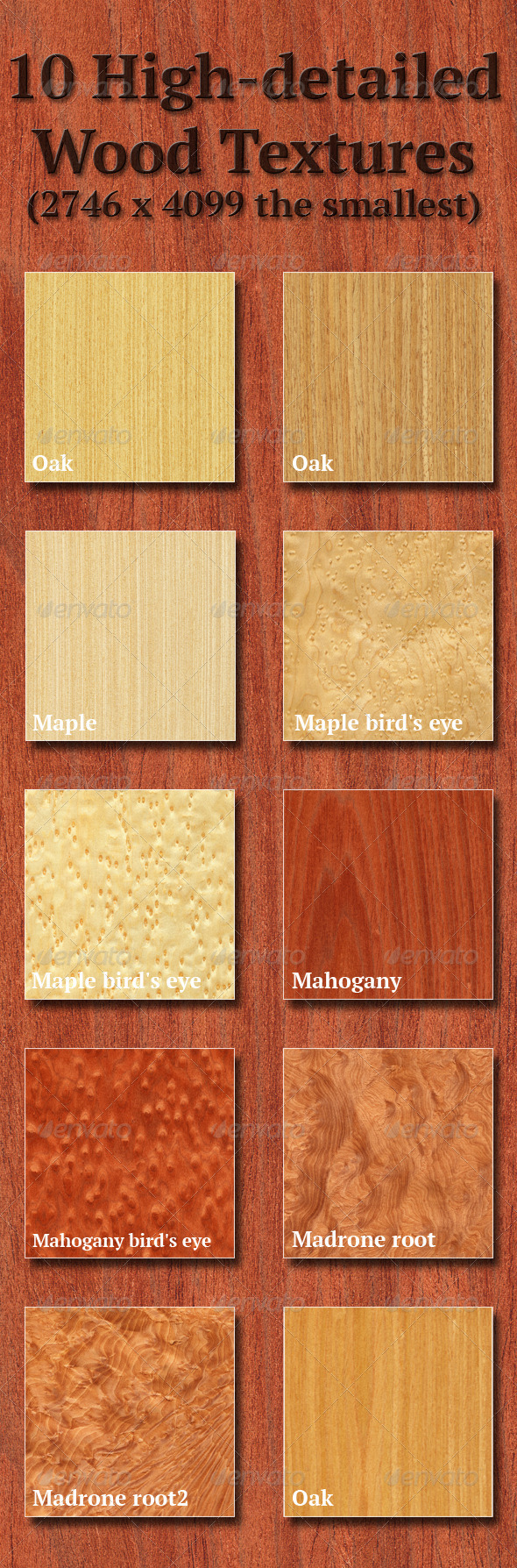 High-Detailed Wood Textures Set 3 - Wood Textures