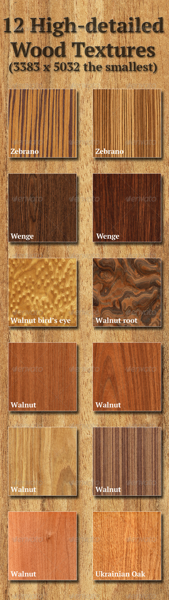 High-Detailed Wood Textures Set 4 - Wood Textures