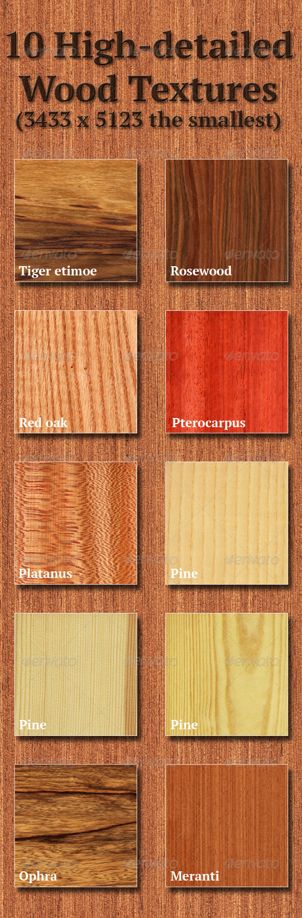 High-Detailed Wood Textures Set 5 - Wood Textures