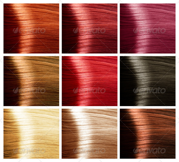 PhotoDune Hair Colors Palette 3018752