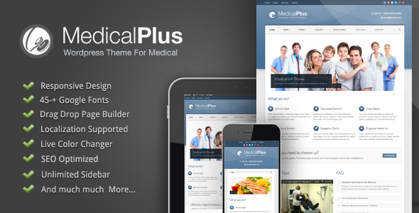 ThemeForest Medical Plus Responsive Medical and Health Theme 3015457