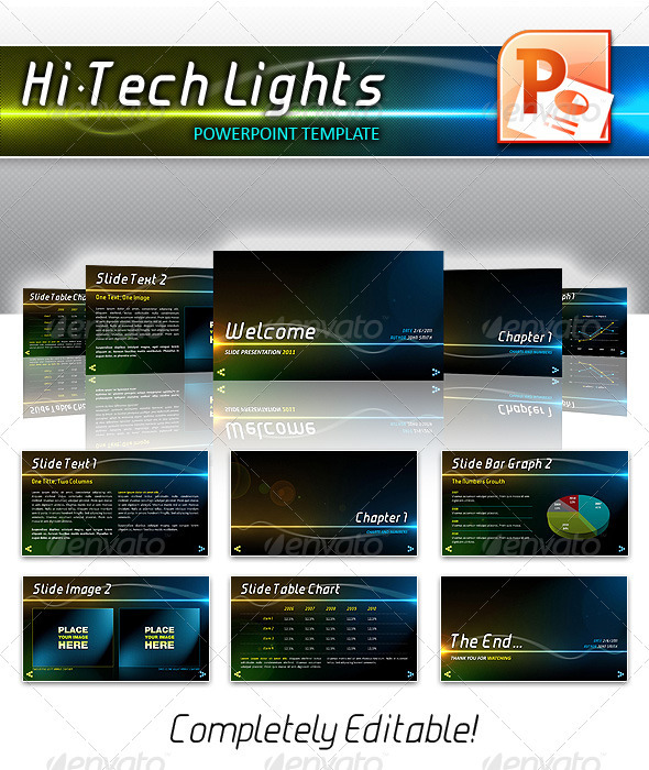 GraphicRiver Hi-Tech Lights Powerpoint 309548