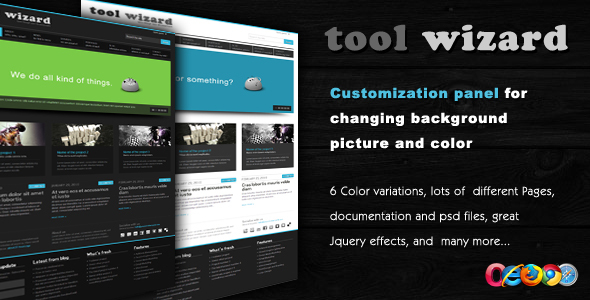 ThemeForest Tool Wizard 2 in 1 Portfolio Business template 107365