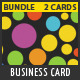 Color Business Card Bundle - 2 Cards - GraphicRiver Item for Sale