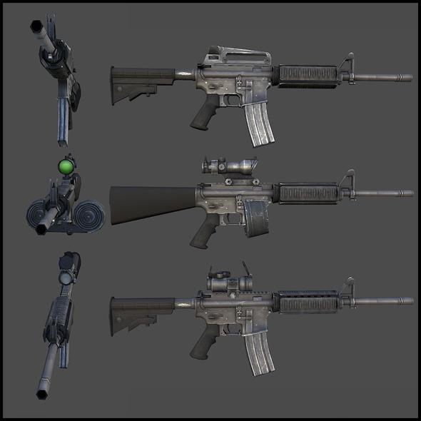 3DOcean M4 Carbine 3018063
