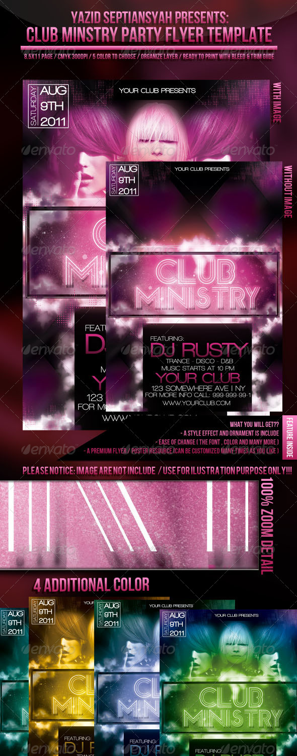 GraphicRiver Club Ministry 309741