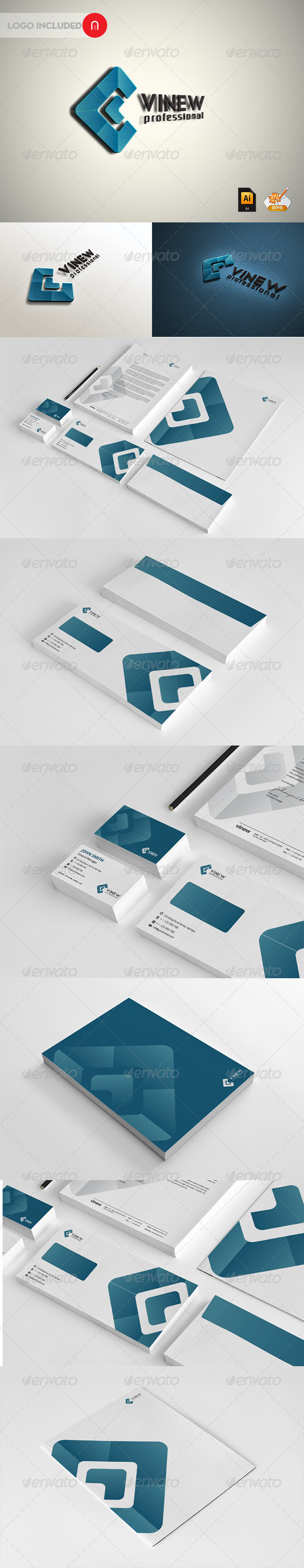 Stationary & Identity - Vinew - Stationery Print Templates