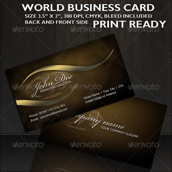 GraphicRiver World Business Card 309855