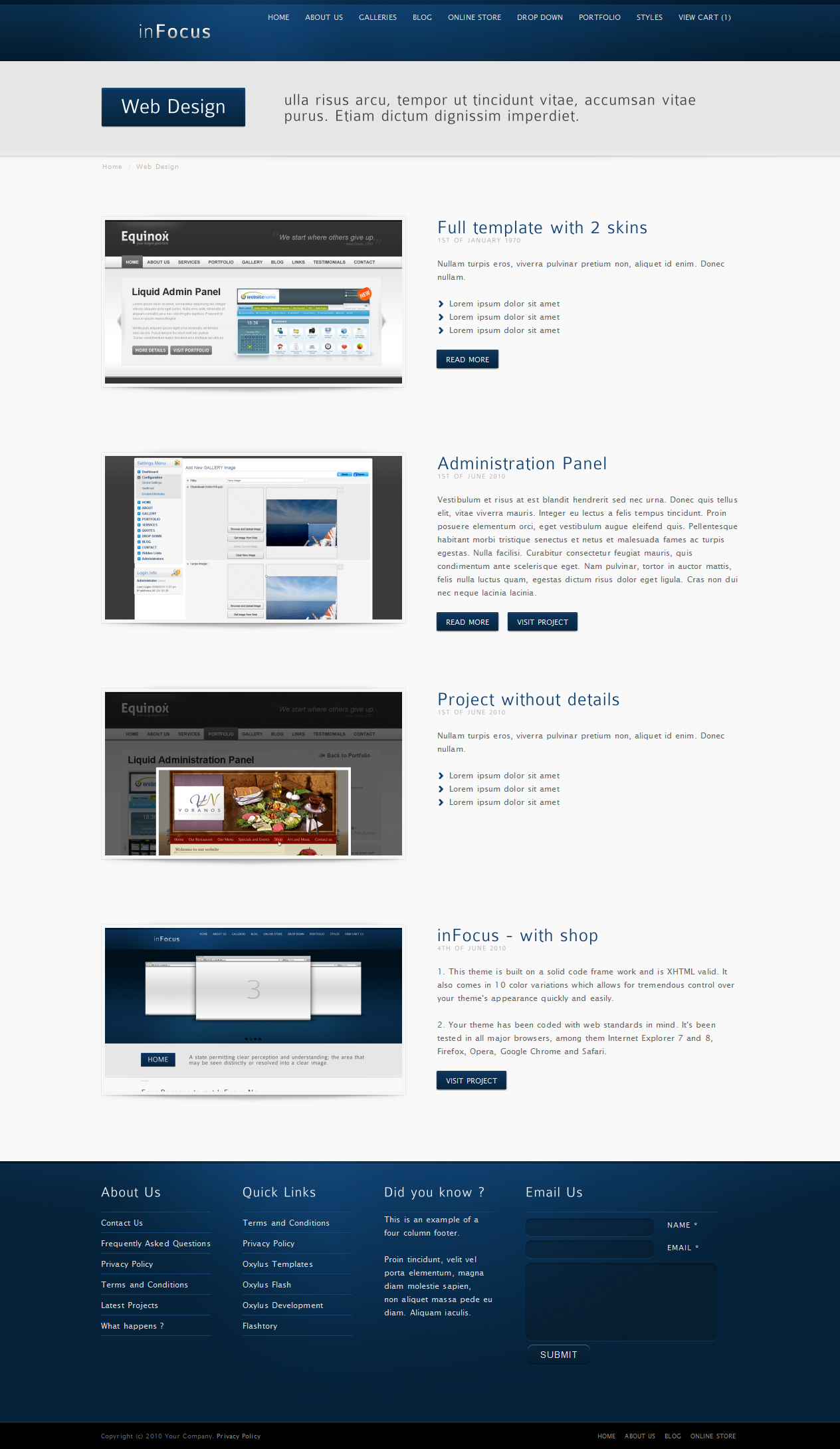 inFocus - Powerful Professional Template w/ E-Shop