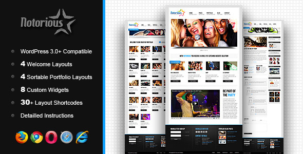 Notorious Creative Portfolio WordPress Theme