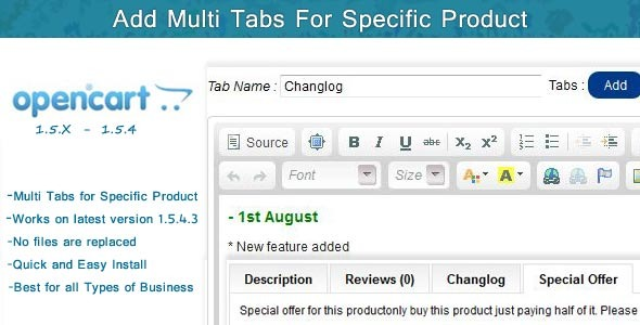 CodeCanyon Multi Tab for Each Product 3022437