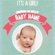 Birth Announcement Card - GraphicRiver Item for Sale