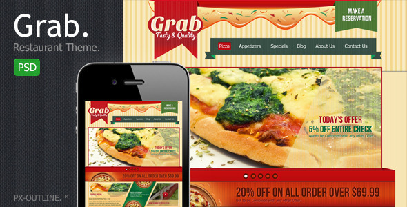 ThemeForest Grab Restaurant Theme Template 2312829