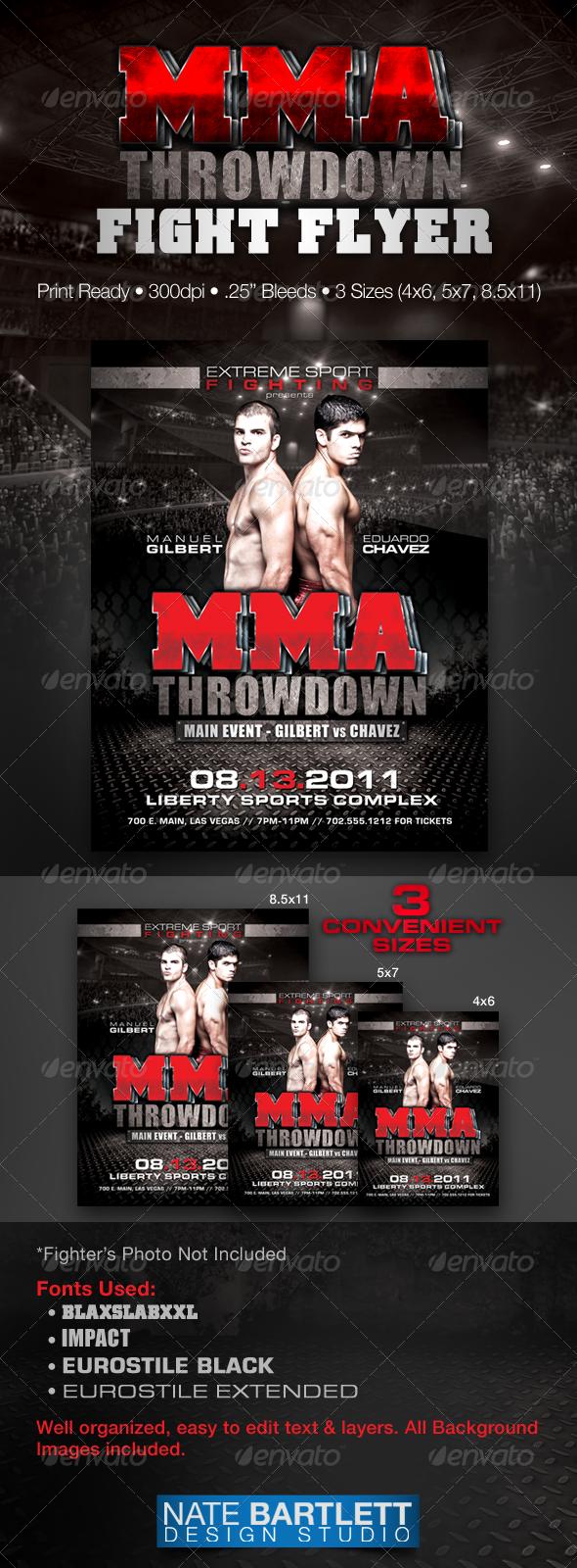 GraphicRiver MMA Fight Flyer 310227