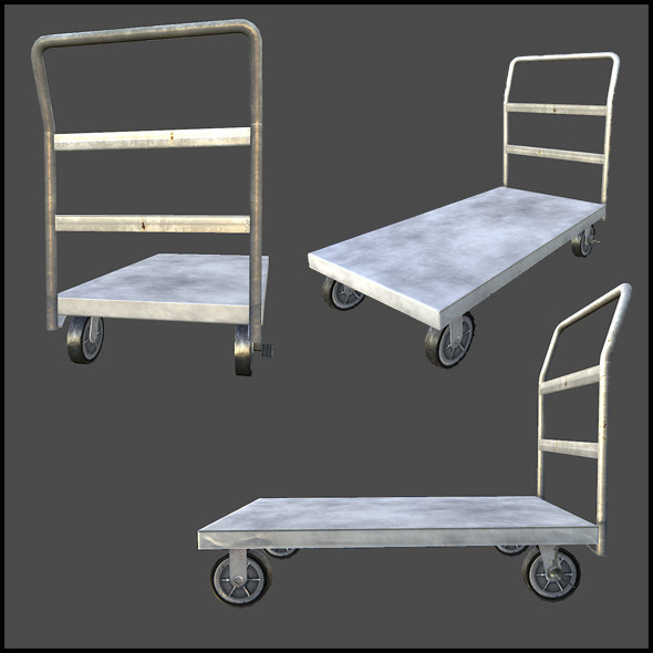 Platform Cart - 3DOcean Item for Sale