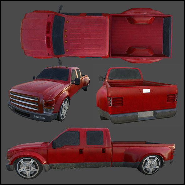 Pickup Truck - 3DOcean Item for Sale