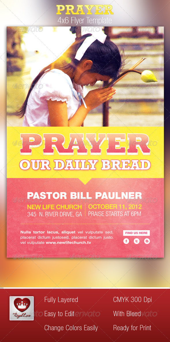 Prayer Church Flyer Template - Church Flyers