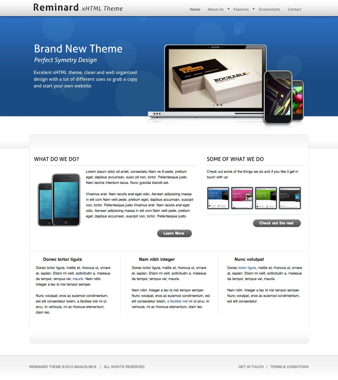 Reminard xHTML Theme