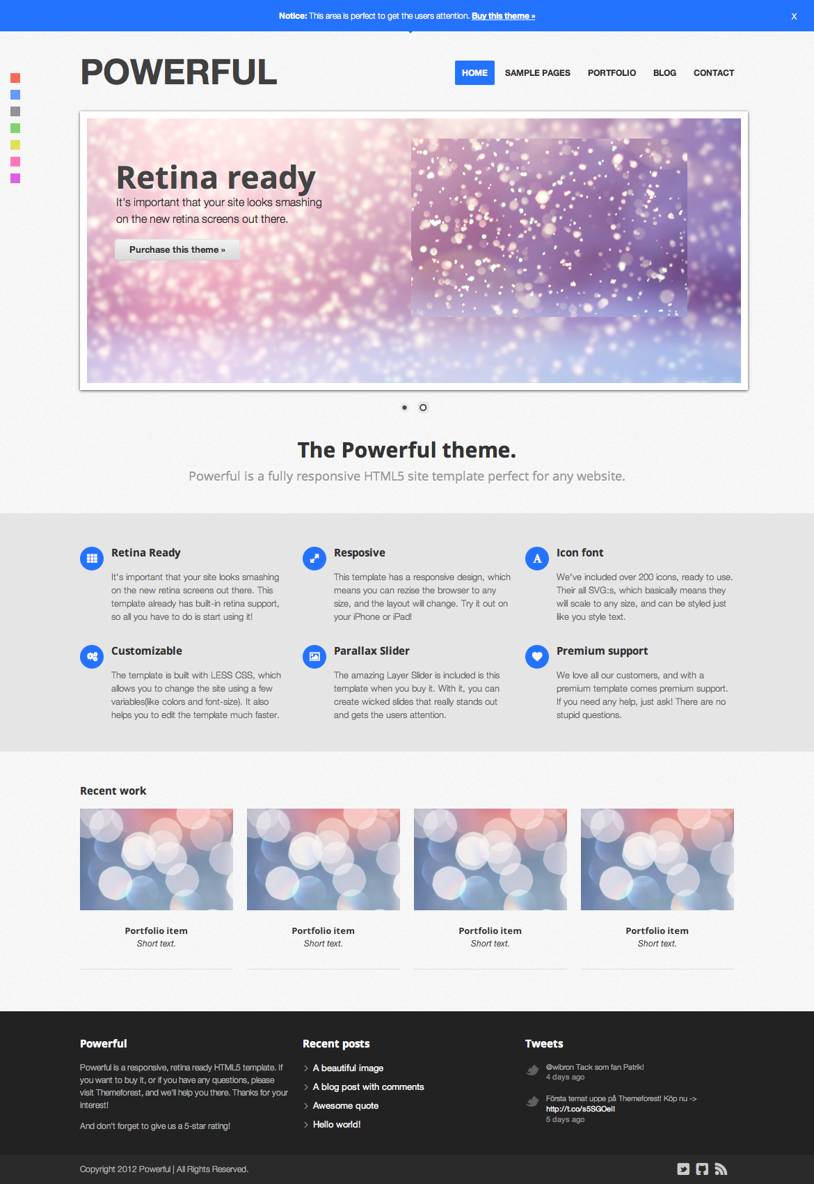 Powerful - Responsive, Retina-ready Theme