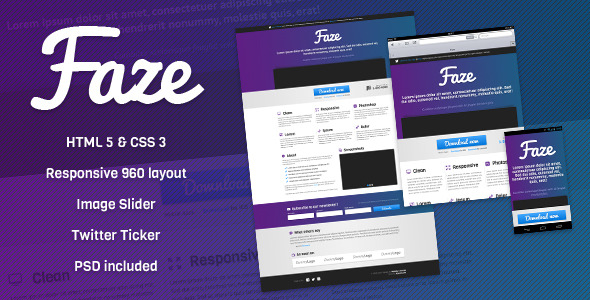 Faze - Responsive Landing Page