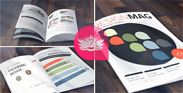 Design Magazine Template - A4 + Letter - 28 Pages