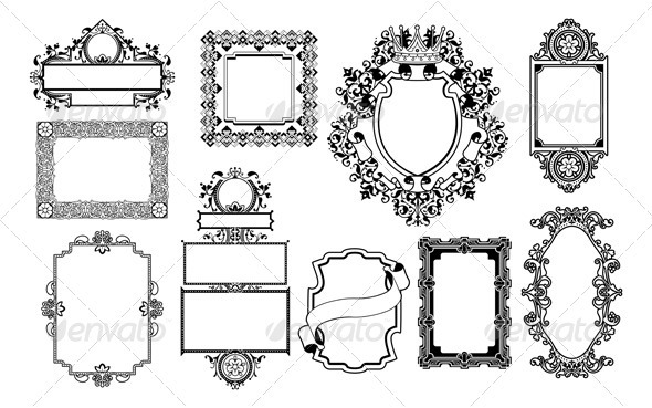 GraphicRiver Graphic design decorative frames 3025944
