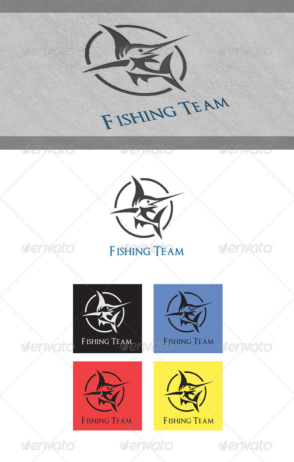 Fishing Team Logo Templates - Animals Logo Templates