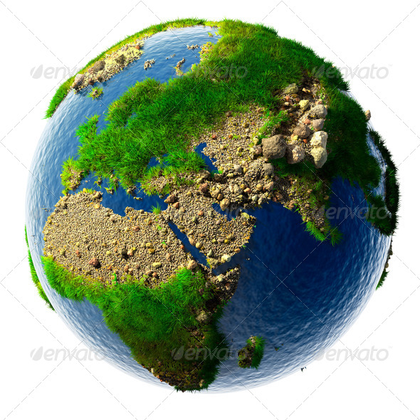 Detailed concept nature of the Earth in miniature - Stock Photo - Images