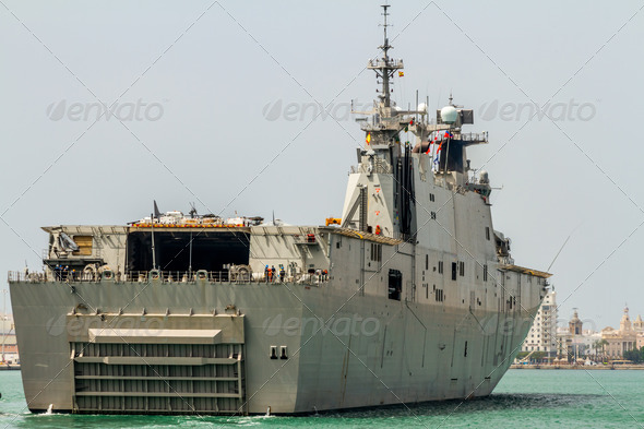 Aircraft carrier L-61 Juan Carlos I - Stock Photo - Images