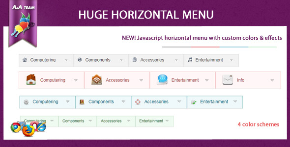 CodeCanyon Javascript Huge Horizontal Menu 310695