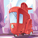 Three-wheeled Retro City Car - GraphicRiver Item for Sale