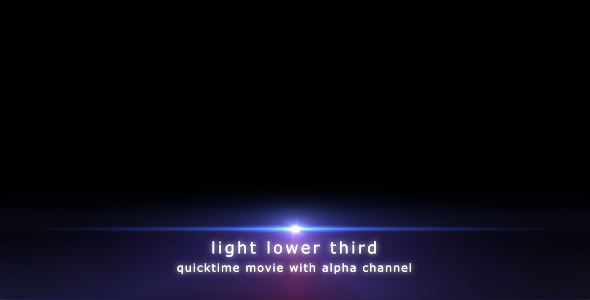 VideoHive Light Lower Third 107706
