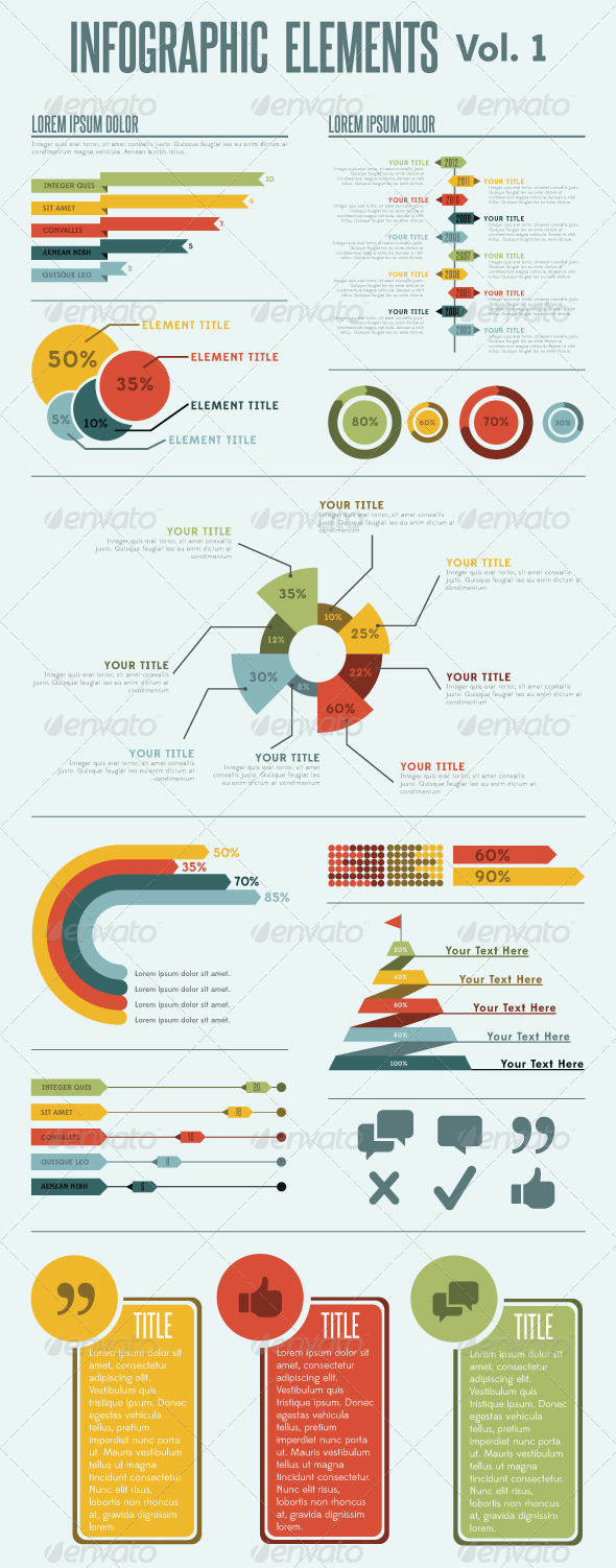 Infographic Elements - Vol. 1 - Infographics