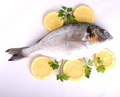 raw sea fish with lemon slices and parsley - PhotoDune Item for Sale