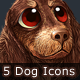 5 Dog Icons - GraphicRiver Item for Sale