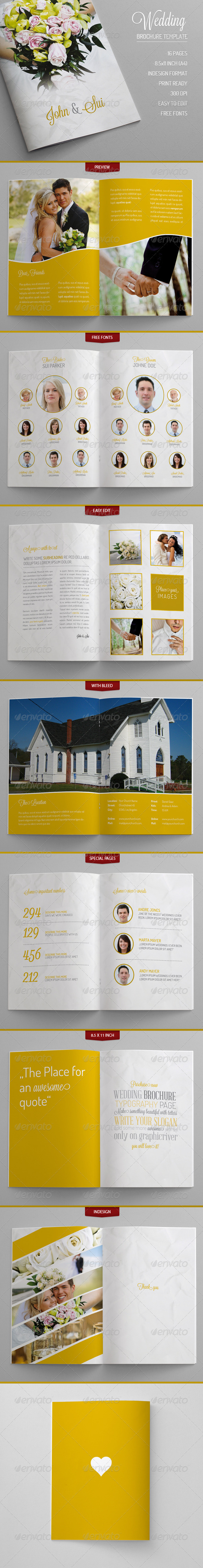 Wedding - Brochure Template - Brochures Print Templates