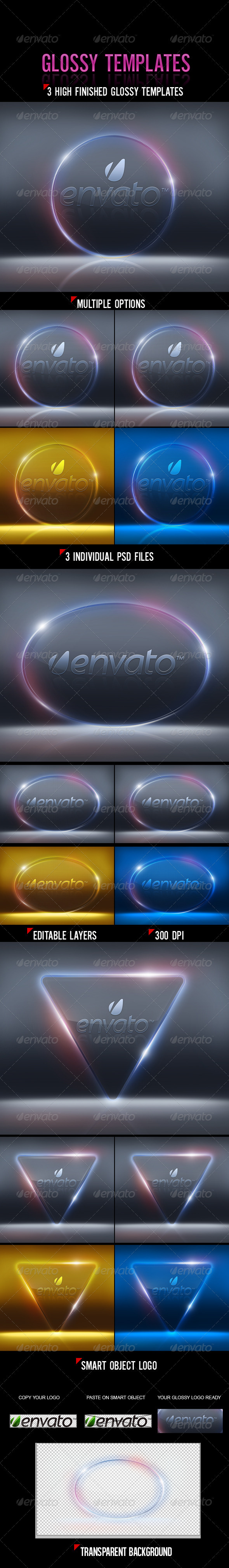 Glossy Templates - Tech / Futuristic Backgrounds