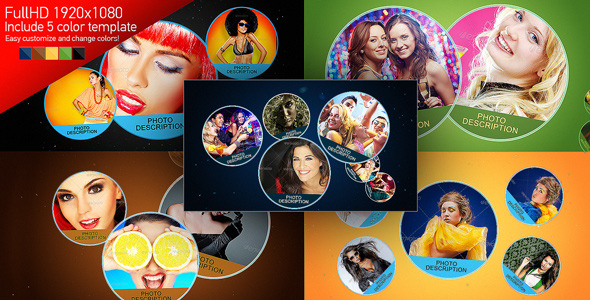 After Effects Project - VideoHive Circles Photo Slideshow 3024180