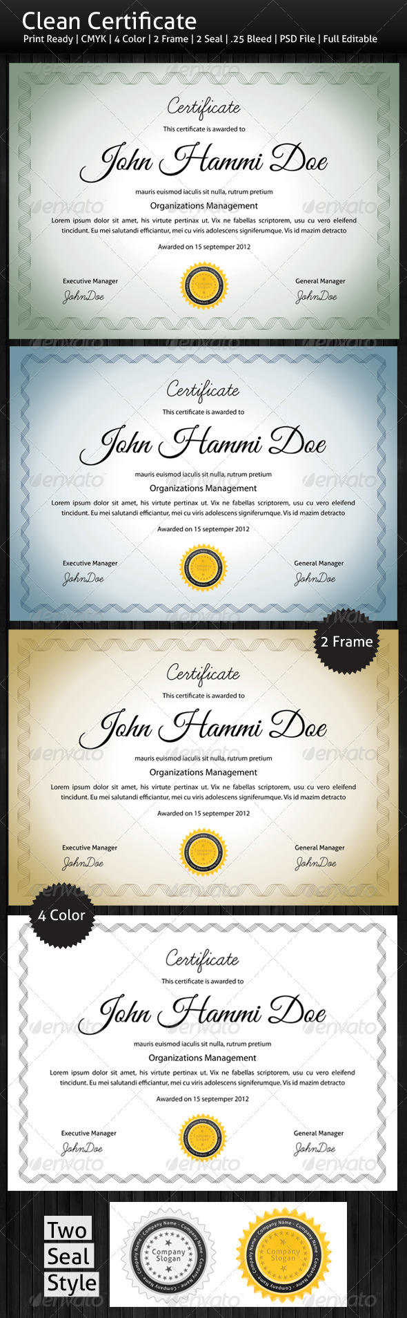 GraphicRiver Clean Certificate 3033056