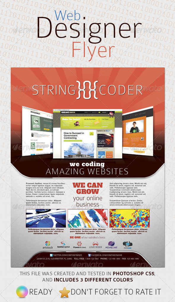 Web Designer Flyer - Corporate Flyers