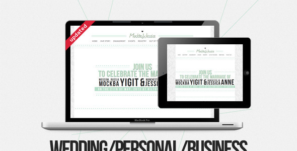 MJ: Personal/Business/Wedding - Wedding Site Templates