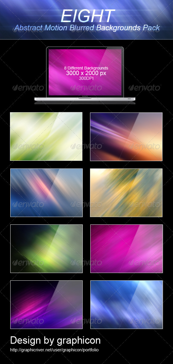8 Abstract Motion Blurred Backgrounds - Abstract Backgrounds