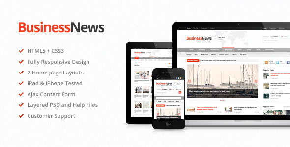 Business News - Premium Magazine HTML5 Template