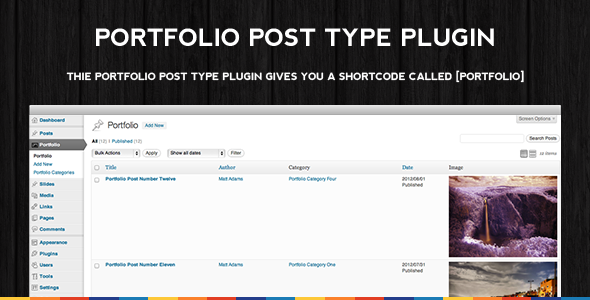 Portfolio Post Type Plugin - CodeCanyon Item for Sale