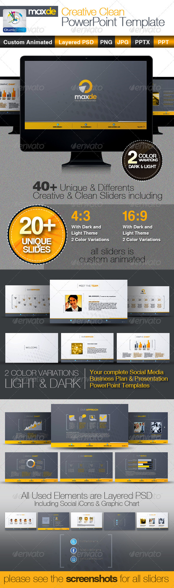 GraphicRiver MaxDe Creative Clean PowerPoint Templates 3037672